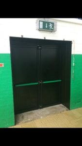Floodguard Steel Flood Door installed in Northumbria
