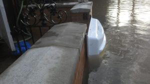 Floodguard Clip-in Barrier protecting restaurant in Netherlands
