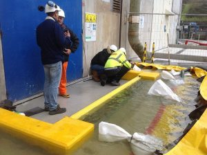 FloodBreak passive flood barrier under test at EDF nuclear plant in France