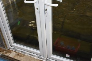 Floodguard uPVC Door under testing for PAS1188-1:2014 showing performance fo flood-proof door