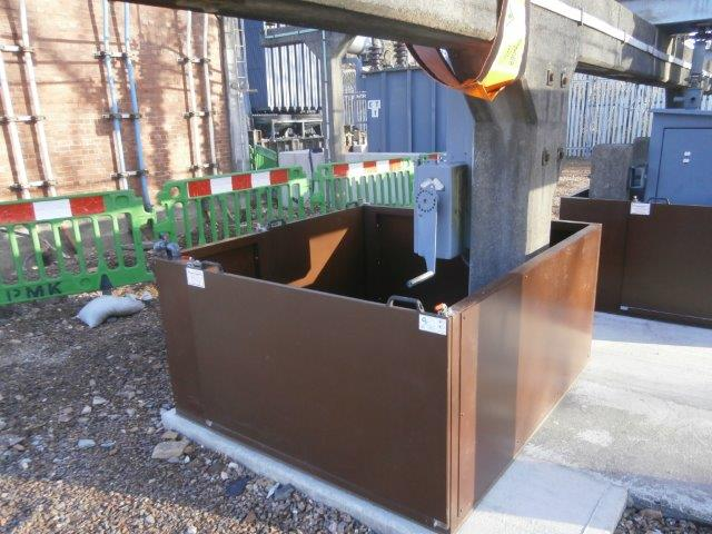 Floodguard Enclosure protecting critical asset at utility site in Scotland